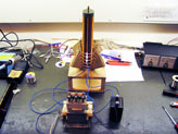 The tesla coil, spark gap, capacitor, and transformer